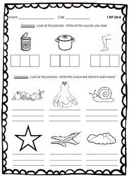 Grade 1 RF Literacy Exit Slips for Common Core