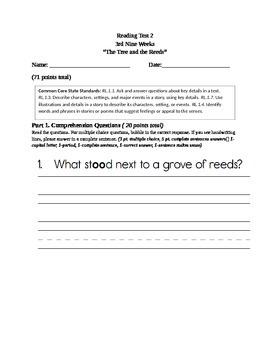 Grade 1 Reading Comprehension Test
