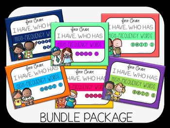 Grade 1 Reading Street High-Frequency I HAVE, WHO HAS Bundle Unit