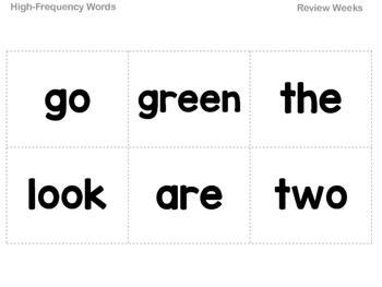 Grade 1 Reading Street High-Frequency Word Flash Cards All Units
