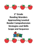 Reading Wonders Grade 1 Approaching Level Comprehension Scope and Sequence