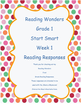 Grade 1 Reading Wonders ~ Start Smart