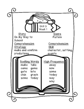 Grade 1 Reading Wonders Supplemental Bundle for Unit 3 Wk 1 On My Way to School