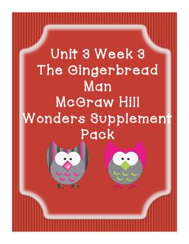 Grade 1 Reading Wonders Supplemental Bundle for Unit 3 Wk 3 Gingerbread Man