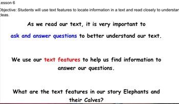 Grade 1 Ready Gen Module B Reading Smartboard Lessons 6-7