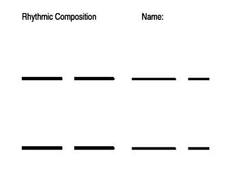Grade 1 and 2 Rhythmic Composition Worksheet