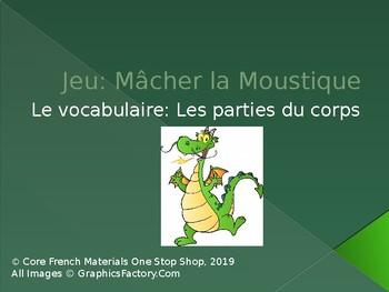 Grade 1 (SK Level 1) Core French Body Parts Macher la Moustique Game