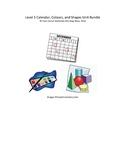 Grade 1 (SK Level 1) Core French Calendar, Colours & Shapes Unit Bundle