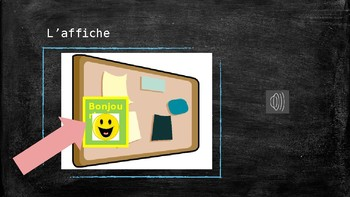 Grade 1 (SK Level 1) Core French Classroom Routines&Objects Vocabulary PowerPoin