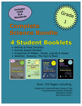 Grade 1 Science Bundle Animals Plants Properties of Matter Seasons