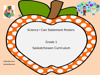 Grade 1 Science I Can Statement Posters