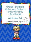 Grade 1 Science: Materials, Objects, and Everyday Structures - Culminating Task