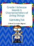 Grade 1 Science: Needs and Characteristics of Living Things - Culminating Task
