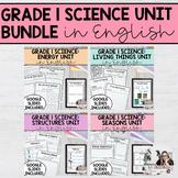 Grade 1 Science Unit Bundle (English Version)