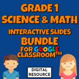 Grade 1 Science and Math Interactive Slide Bundle Distance