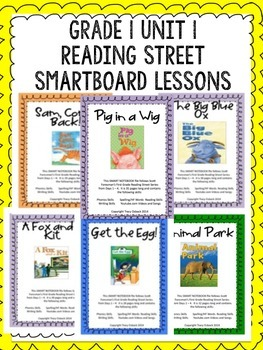 Grade 1 Scott Foresman Reading Street Unit 1 BUNDLE Smartboard Lessons