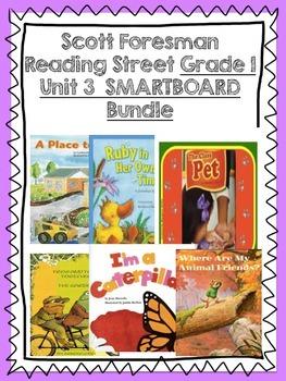 Grade 1 Scott Foresman Reading Street Unit 3 BUNDLE Smartboard Lessons
