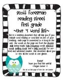 Reading Street Grade 1 Word List Unit 4