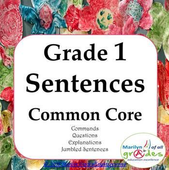 Grade 1 -  Sentences - Worksheets & Activities - Common Core