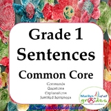 Grade 1 -  Sentences - Worksheets & Activities - Common Core