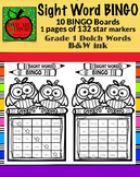 Grade 1 Sight Word BINGO B&W ink (Daycare Support by Prisc