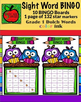 Grade 1 Sight Word BINGO color ink (Daycare Support by Priscilla Beth)