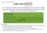 Grade 1 Sight Word BOOM!