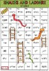 Grade 1 Sight Word Snakes and Ladders Game Dolch Words