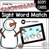 Grade 1 Sight Word Snowman Matching Game | BOOM Deck