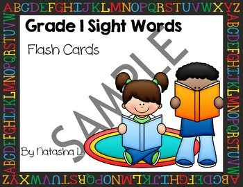 Grade 1 Sight Words Flash Cards