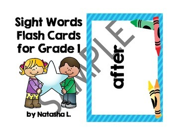 Grade 1 Sight Words Flash Cards