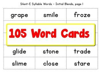 Grade 1 Silent-E Pattern Bingo Game