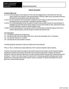 Grade 1 - Social Studies Assessments Bundle - 4 Complete Units
