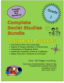 First Grade Social Studies Bundle Family Citizenship Mapping Economics Holidays