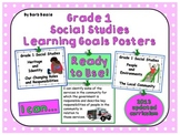 Grade 1 Social Studies Learning Goals Posters - 80 pages