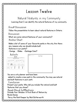 Grade 1 Social Studies-The Local Community