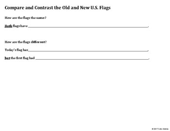 Grade 1 Social Studies. US Flags - Compare/Contrast