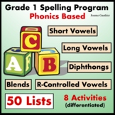 Grade 1 Spelling Program (Phonics Based)