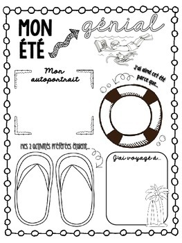 FREEBIE: French Back to School Writing Activity!