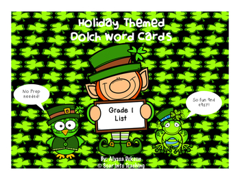Grade 1 St. Patricks Day Dolch Word Game