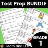 Grade 1 Test Prep Bundle - Math and ELA - great for SAT 10