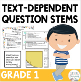 Text Dependent Question Stems 1st Grade