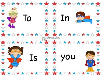 "Grade 1: The First 100 ""Instant"" Sight Words -Superhero Theme"