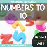 Grade 1, Unit 1: Numbers to 10 (Wonderland Math)