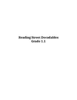 Grade 1 Unit 1 Reading Street Decodable Reader