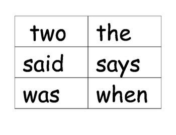 Grade 1 Unit 1 EngageNY Skills Strand: Tricky Words Word Cards