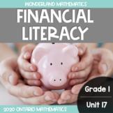 Grade 1, Unit 17: Financial Literacy (Wonderland Mathematics)
