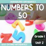Grade 1, Unit 2: Numbers to 50 (Wonderland Math)