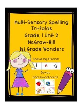 Grade 1 Unit 2 Spelling Wonders Trifolds