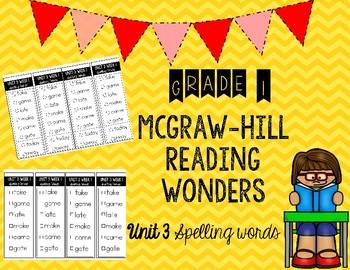 Wonders Unit 3 Spelling Words